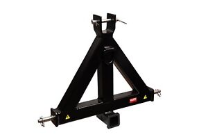 Heavy Duty 3 Point 2 Receiver Trailer Hitch Category 1 Tractor Tow Drawbar Pull