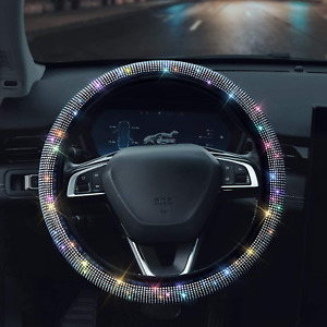 Shering Bling Rhinestones Steering Wheel Cover With Crystal Diamond Sparkling