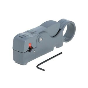 Deluxe Rotary Coax Coaxial Cable Stripper Cutter Tool Rg58 Rg6 Rg59 Quad Dual