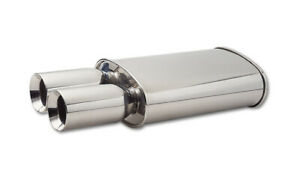 Vibrant Performance Streetpower Oval Muffler W Dual 3 5 Round Tips 3 Inlet