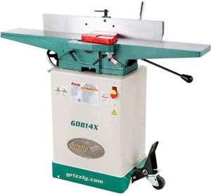 Grizzly Industrial G0814x 6 Jointer W stand V helical Cutterhead