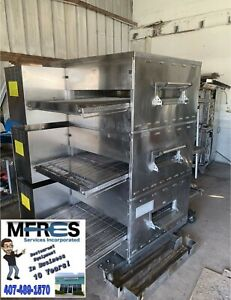 Middleby Marshall Triple Deck Gas Pizza Oven Model Ps840g