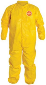 Case Of 12 Dupont Tychem Coverall With Collar Qc125s L Yellow