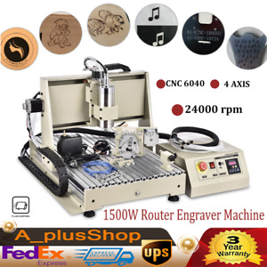 1500w 4 Axis Usb 6040 3d Router Engraver Cnc Engraving Milling Machine Woodwork