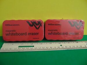 Lot Of 2 Office Depot Magnetic Whiteboard Erasers New Sealed