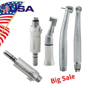 Dental Led High Low Speed Handpiece Push Button 2 4 Hole Kit E generator On Sale