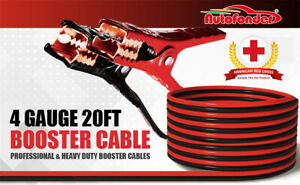 Booster Cable 4 Gauge X 20 Ft Energizer Jumping Cables For Car Battery