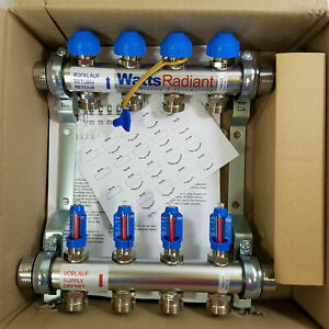 Watts Radiant Heat M4 Stainless Steel Manifold Flowmaster 1 New D38030004ss