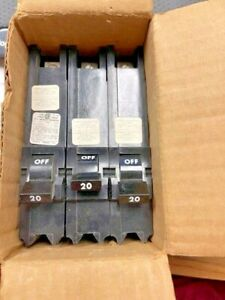 Federal Pioneer fpe Neb211020 Type Neb Breaker 1 Pole 20 A 240vac Box Of 3