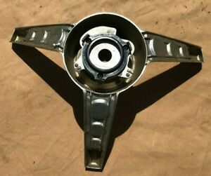 1965 1966 Ford Mustang Chrome Horn Ring 3 Spoke Original Nice Shape New Parts