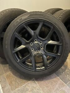 Dodge Ram 1500 22 Inch Black Wheels And Tires 2019 2020 2021