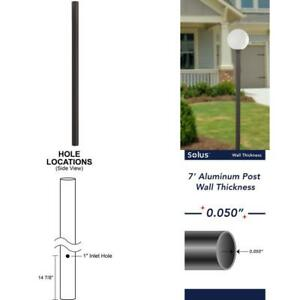 7 Ft Bronze Outdoor Direct Burial Aluminum Lamp Post Fits Most Standard 3 In P