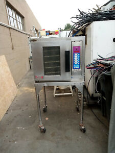 Lang Ehs Half Size Convection Oven 208 240 Volts Single Or 3 Phase Stand Tested
