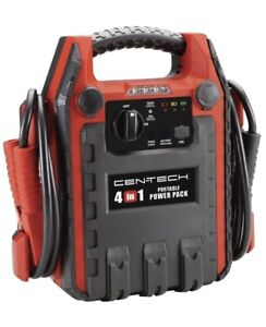 Centech 4 In 1 Portable Power Pack With Jump Starter And Compressor