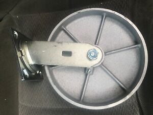 8in Swivel Steel Caster With Grease Cirt On Swivel Wheel