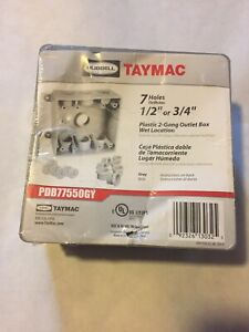 Taymac Pdb77550gy Gray 2 gang Weatherproof Square Outlet Box