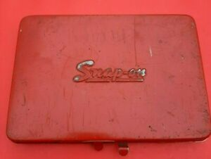 Read Modified Vintage Snap On Tools Usa Red Metal Tool Box Case 6 x 8 Kra 275