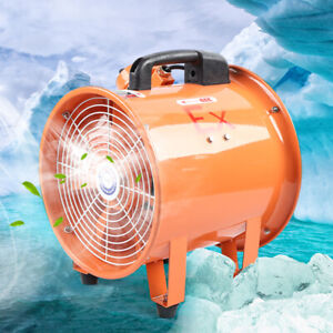 10 Explosion proof 350 Pa Axial Fan Cylinder Pipe Spray Booth Paint Exhaust Fan