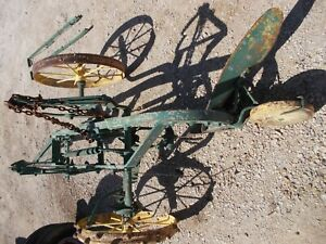 Oliver Moline 2 Bottom Steel Wheel Pull Type Plow Painted Yellow Green