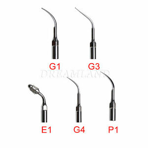 5 dental Ultrasonic Piezo Perio Endo Scaler Tip Fit Ems Woodpecker Handpiece U d