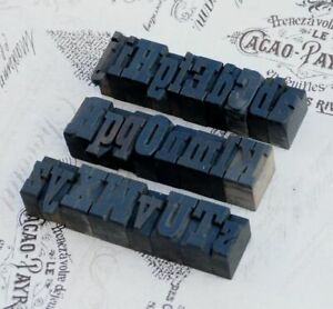 A z Mixed Alphabet 1 06 Letterpress Wooden Printing Blocks Wood Type Vintage