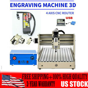 4 Axis 400w Cnc 3040 Router Engraver Metal Drilling Cutter Machine Usa Fast