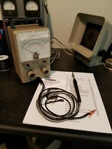 Vintage Heathkit Vtvm Im 18 With Probes Fully Functional Good Condition