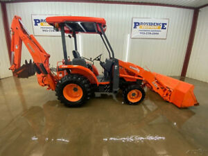 2010 Kubota L39 Backhoe Loader Tractor Orops With Canopy Top