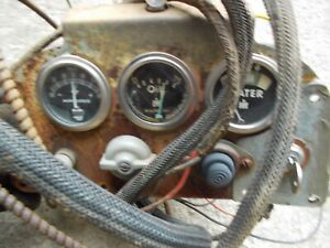 Farmall 450 Ih Tractor Original Dash Panel W Gauges Wire Harness Switches