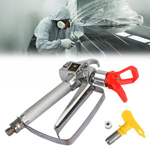 3600 Psi Airless Paint Spray Gun With 517 Tip Tip Guard For Sprayers Ca