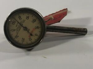 Starrett No 196 Jeweled Dial Indicator With Back Plunger 001 Usa Athol Gauge