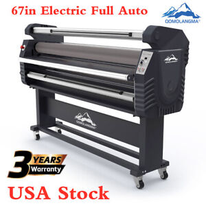 Qomolangma 67in Wide Format Electric Full auto Roll to roll Cold Laminator