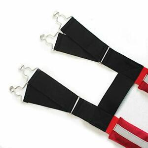 Firefighter Pant Suspenders Fire rescue Quick Adjust Suspenders With Reflective