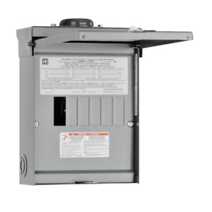 Square D Individual Subpanel 100 Amp 120 240 Vac 12 circuit Stainless Steel Hasp