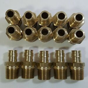 Lot Of 15 1 2 Pex X 1 2 Mpt Male Thread F1960 Expansion Adapter Fitting Brass