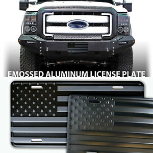 American Flag Patriotic Embossed Aluminum License Plate Made In The Usa