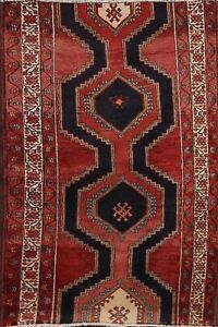 Vintage Geometric Traditional Oriental Area Rug Wool Hand Knotted 3x5 Ft Foyer