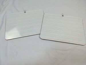 2 White Boards School Students 9 X 12 Double sided Lines Blank Spelling