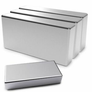 Magnets Super Strong N52 Neodymium Large Block Magnet 2 x1 x3 8 Rare Earth