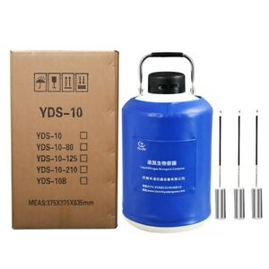 10l Liquid Nitrogen Ln2 Storage Tank Static Cryogenic Container With Straps T