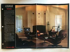 1992 Herman Miller Lounge Seating Catalogue Brochure By Eames Nelson Vtg