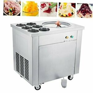 Commercial Ice Roll Maker 740w Fried Yogurt Cream Machine Perfect For