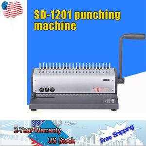Manual Wire Punching Machine 21 Holes A4 Papers Spiral Coil Book Binding Machine