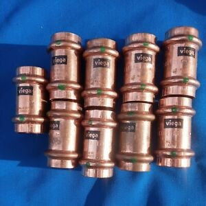 Pack Of 9 Viega 78052 3 4 X 3 4 Propress Coupling With Stop Copper