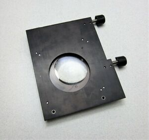 Microscope Stage With Magnifier Lens