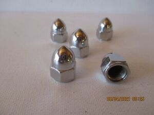 Ford Flathead Trick Bullet Chrome Head Nuts Set Of 48 New Free Shipping