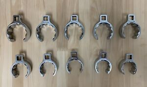 Snap On 1 2 Drive 12 Point Flank Drive Flare Nut Crowfoot Wrench Set Of 10