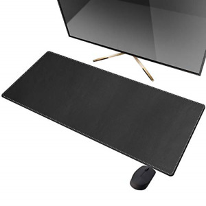 Cennbie Artificial Leather Desk Mat Pad Blotter Protector 90x40cm Extended