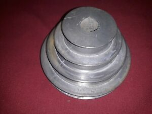 Four Step Zinc Pulley 1 7 8 2 3 4 3 1 2 And 4 In Machine Motor 2 Set Screws