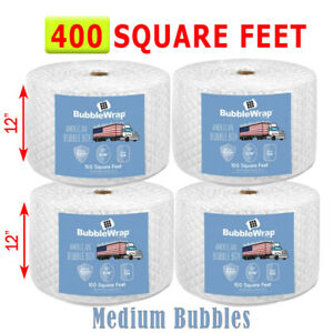 400 Feet Medium Bubble Wrap Roll 12 Wide 5 16 Bubbles Perforated 12 Premium